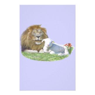 Löwe und die christliche Kunst des Lamms Briefpapier