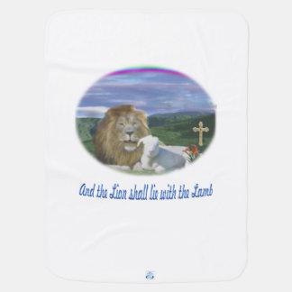 Löwe und die christlichen Geschenke des Lamms Kinderwagendecke