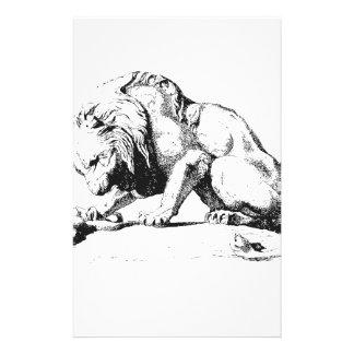 Löwe und die Schlange Briefpapier