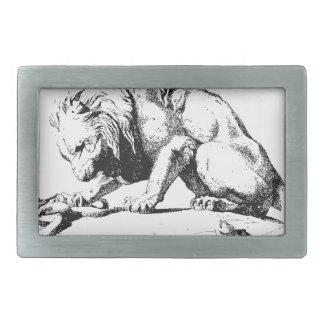 Löwe und die Schlange Rechteckige Gürtelschnalle