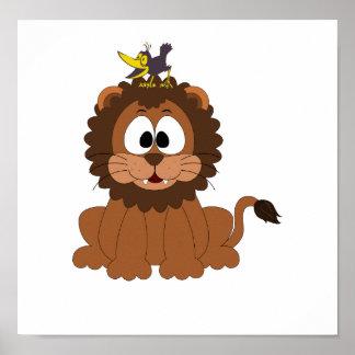 Löwe und Krähe Poster