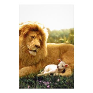 Löwe und Lamm Briefpapier