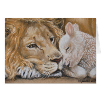 Löwe und Lamm durch TACS 12x18-Grußkarte Karte