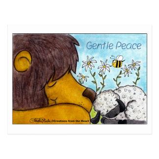 Löwe-und Lamm-leichter Frieden Postkarte
