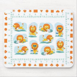 Löwe und Lamm mousepad für Kinder