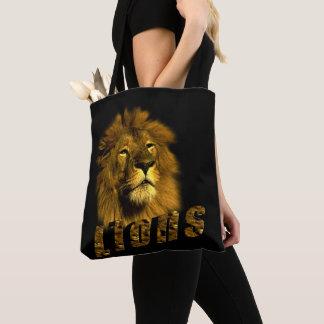Löwe-und Löwe-Bild-Logo, Tasche