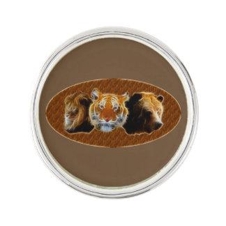 Löwe und Tiger und Bär Anstecknadel