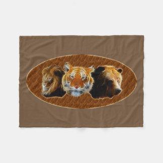 Löwe und Tiger und Bär Fleecedecke
