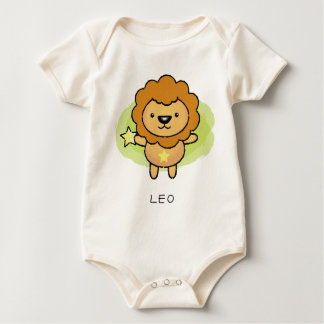 Löwe-Vektor der Horoskoptierkreiszeichen Baby Strampler