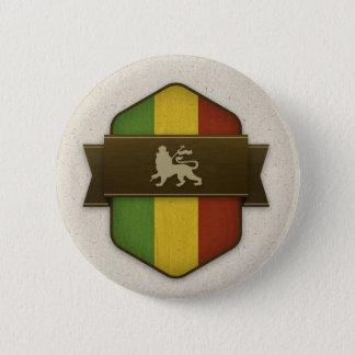 Löwe von Judah Rasta Schild Runder Button 5,1 Cm