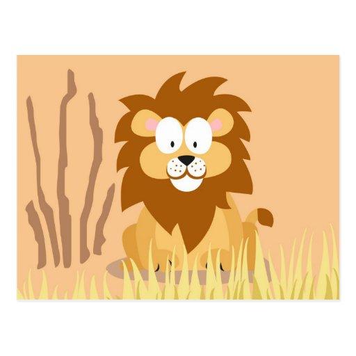 Löwe von meinem Welttiere serie Postkarte