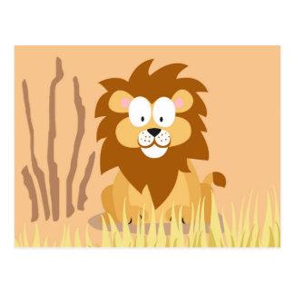 Löwe von meinem Welttiere serie Postkarten