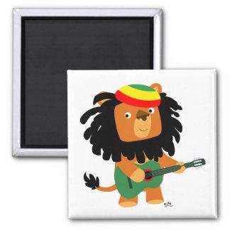 Löwe von Zion Magneten Quadratischer Magnet