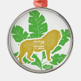 Löwe von Zion Silbernes Ornament