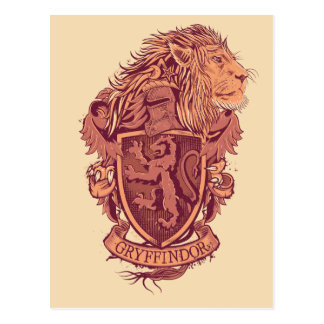 Löwe-Wappen Harry Potter | Gryffindor Postkarte