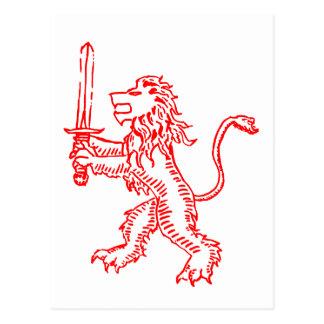 Löwe-Wappenrot Postkarte