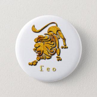 Löwe-Zeichen-rundes Button