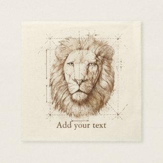 Löwe-Zeichnen Papierserviette