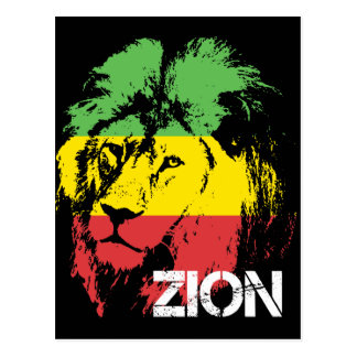 Löwe Zion Postkarte