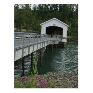 Lowell-überdachte Brücke Postkarte