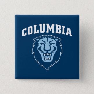 Löwen der Universität von Columbias-| Quadratischer Button 5,1 Cm