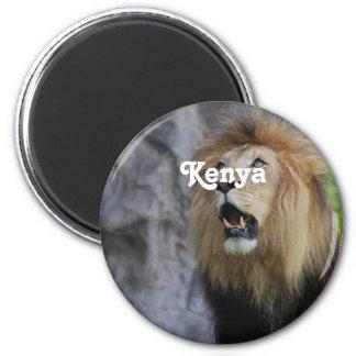 Löwen in Kenia Runder Magnet 5,7 Cm