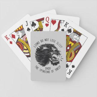 Löwen verlieren nicht Schlaf-Spielkarten Spielkarten