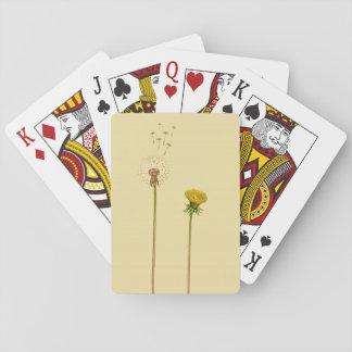 Löwenzahn, Blowballs - gelbe Blumen Spielkarten