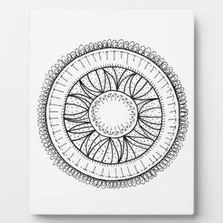 Löwenzahn-Blume Mandala Fotoplatte