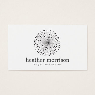 LÖWENZAHN-STERNEXPLOSION-LOGO auf WEISS Visitenkarten