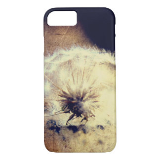 Löwenzahn-Telefon-Kasten, Brown-Hintergrund iPhone 8/7 Hülle
