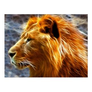 Löwephantasiepostkarte Postkarte