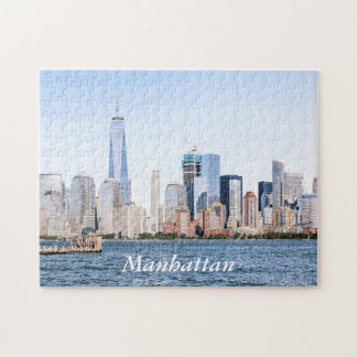 Lower Manhattan-Farbskizze-Puzzlespiel Puzzle