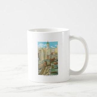 Lower Manhattan-Wolkenkratzer, New York Kaffeetasse