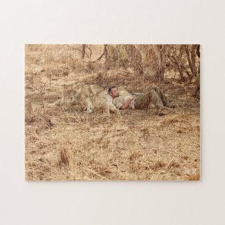 Löwewhisperer-Puzzlespiel mit Geschenk-Tasche Puzzle
