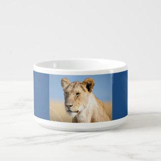 Löwin gegen blauen Himmel Kleine Suppentasse