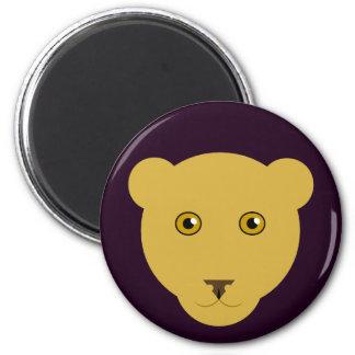 Löwin-Gesichts-Magnet Runder Magnet 5,1 Cm