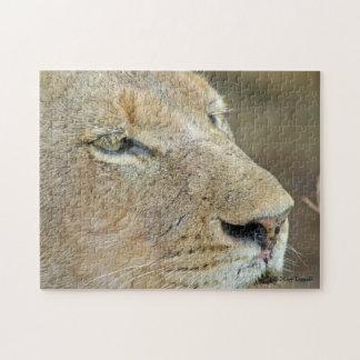 Löwin-Gesichts-Puzzlespiel Puzzle