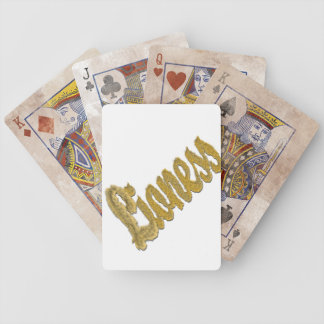 Löwin - Pelztext Bicycle Spielkarten