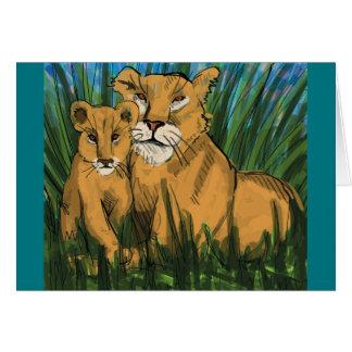 Löwin und CUB-Druck Karte