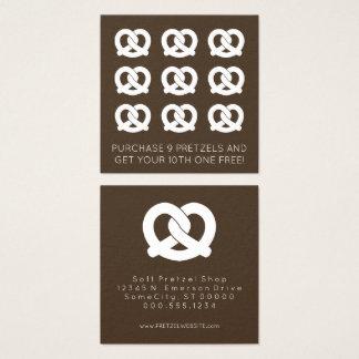 Loyalitäts-Briefmarkenfarbe der weichen Brezeln Quadratische Visitenkarte