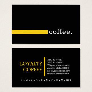 Loyalitäts-Kaffee-Durchschlags-Ebenen-Schwarzes Visitenkarte