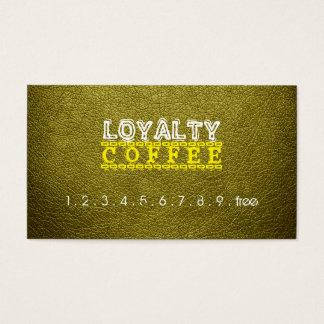 Loyalitäts-Kaffee-Durchschlags-Leder-Blick #2 Visitenkarte