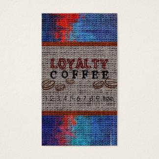 Loyalitäts-Kaffee-Durchschlags-Leinwand-Blick #6 Visitenkarten