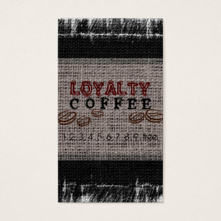 Loyalitäts-Kaffee-Durchschlags-Leinwand-Blick Visitenkarte