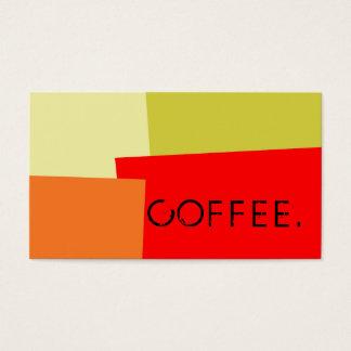 Loyalitäts-Kaffee-Durchschlags-moderne Retro Farbe Visitenkarten