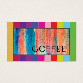 Loyalitäts-Kaffee-Durchschlags-Retro Farbhölzerner Visitenkarten