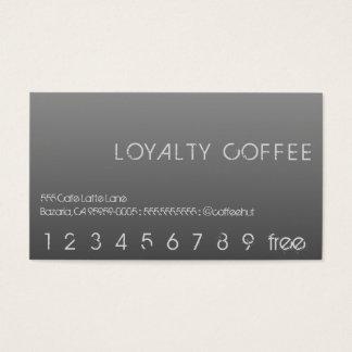 Loyalitäts-Kaffee-Lochkarte Visitenkarte