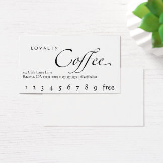 Loyalitäts-Kaffee-Lochkarten-Weiß mit schwarzem Visitenkarte