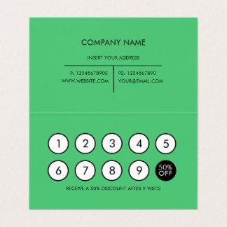Loyalitäts-moderner unbedeutender Smaragd Visitenkarten